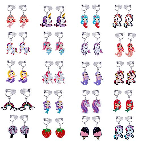 Clip On Earrings Kids - 20 Pairs Clip on Earrings Girls