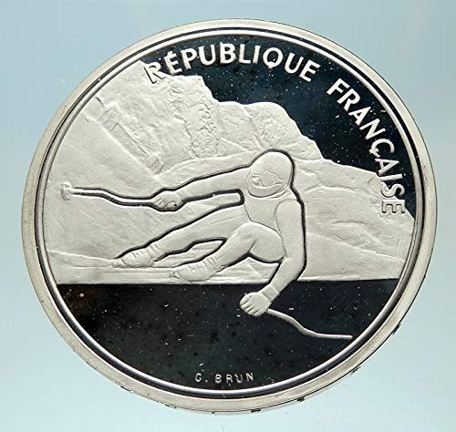 1989 FR 1989 FRANCE Alpine Skiing 1992 Olympics Proof AR coin Good Uncertified