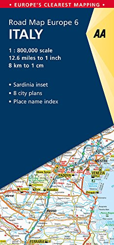 Road Map Italy (Road Map Europe) (Italy Driving Map)