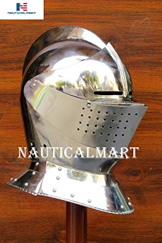 Armet Closed Helmet 16th Century Medieval Armor Steel Helmet Halloween -