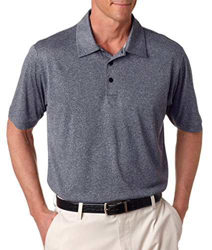 Climalite Jersey Polo Shirts (Adidas Golf Men's ClimaLite Heathered Jersey Polo Shirt, NAVY HEATHER, XXX-Large)