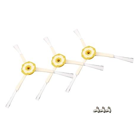 Redstrong 3 x Cepillo de Robot de Limpieza, 3pcs Cepillo de Repuesto para Robot Aspirador