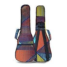 ZEALUX® Colourful Adjustable Shoulder Strap 10MM Sponge Fill Ukulele Case Bag & Uke Case