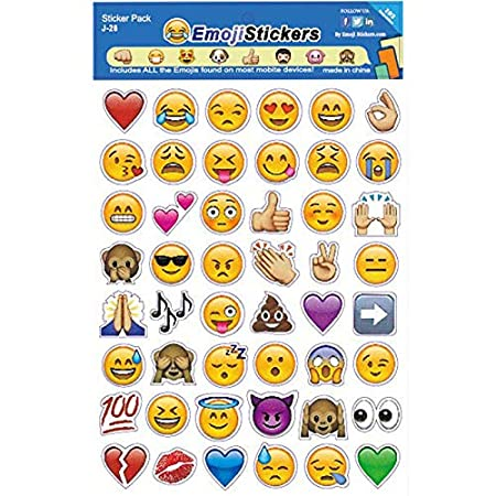 Stickers For - 4 Sheets Set Sticker Emoji Smile Face ...