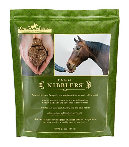 Omega Nibblers Best Natural 3 Treat or Supplement for Horses, 15 lb.