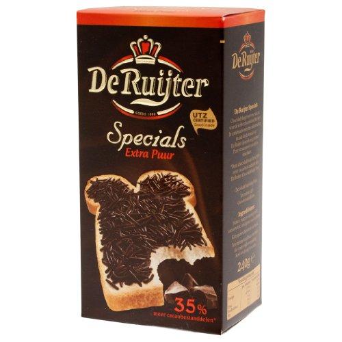 De Ruijter Specials Schokoladen-Streusel, Schokolade, Flocken Extra Puur, 240g