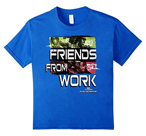Marvel Thor Ragnarok Friends From Work Text Quote T-Shirt