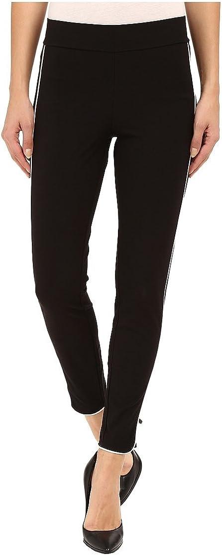 Hue Women's Leggings Piped Polished Twill Skimmer Large Black