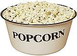 Enamelware Popcorn Bowl 4 3/4'' tall and 9 3/4'' in diameter 4 Quart