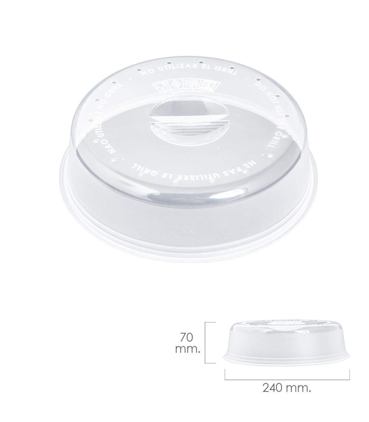 ORYX 5071015 Tapa Microondas Ø 24 x 7 cm, Transparente