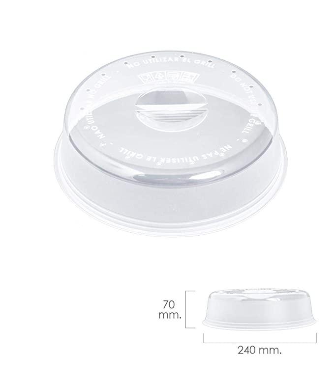 ORYX 5071015 Tapa Microondas Ø 24 x 7 cm, Transparente: Amazon.es