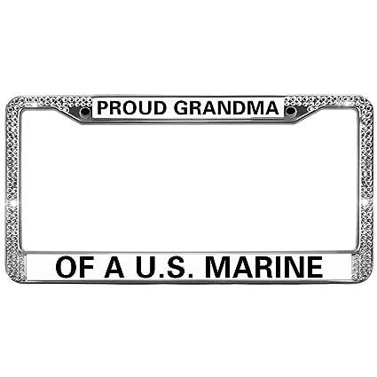 Amazon.com: US Marine Corps License Plate Frame for Women Bling ...