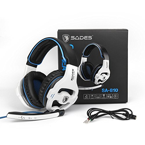 PC PS4 XBOX ONE Gaming Headsets, SADES 810W 3.5mm Over the ear Gaming Headphones with Mic Volume Control