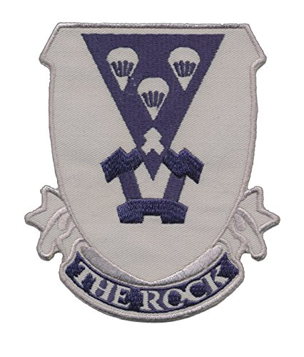 Nice US Paratrooper - Airborne - 503rd Infantry Regiment (The Rock)- Distinctive Unit Insignia Embroidered Patch - 3 3/4