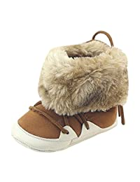 Gotd Toddler Newborn Baby Girl Boys Brushed Snow Boots Prewalker Warm Shoes