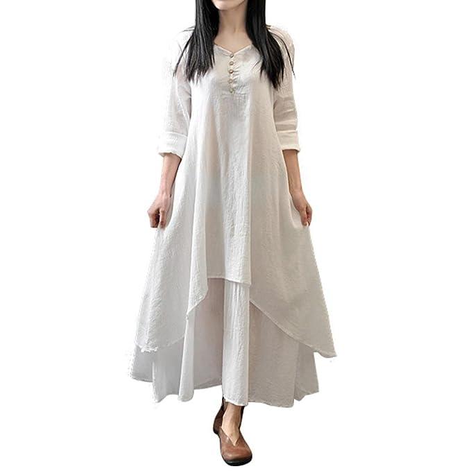 huge discount 7d7f2 09fd9 HOMEBABY® Casual Estivi Vestiti Donna Cotone- Abiti Lunghi ...