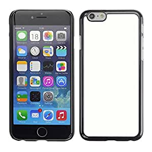 Slim Design Hard PC/Aluminum Shell Case Cover for Apple Iphone 6 white tabula rasa clean slate snow / JUSTGO PHONE PROTECTOR