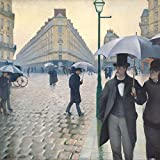 Posters: Gustave Caillebotte Poster Art Print - Paris Street, Rainy Day, 1877 (16 x 16 inches)