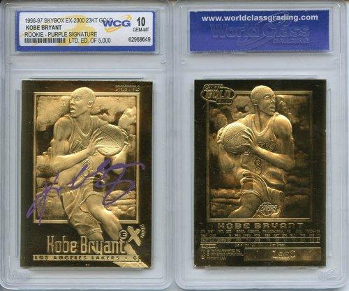 Card Foil Rookie - 1996-97 EX-2000 Credentials Kobe Bryant Gold Foil Rookie Card