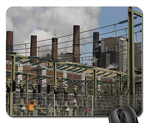 Mouse Pad - Carbon Power Plant Coal Fired Power Plant Bergheim