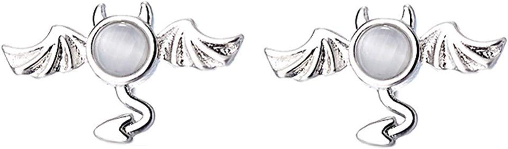 Pendientes hipoalerg/énicos de plata de ley con dise/ño de hada
