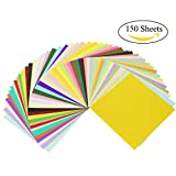 PrettyDate 3 Pack 150 Sheets 6 Inches Double-Sided Square Origami Paper 50 Vivid Colors for Arts and Crafts Projects