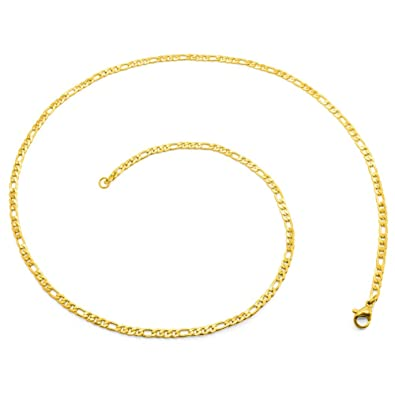 SoulCats® Figaro Necklace for men and women made of stainless steel gold, many different thicknesss