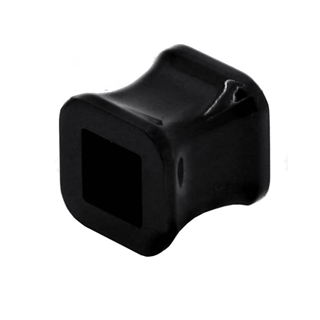 tumundo 1 piezza Flesh Tunnel Plug Piercing Oreja Negro BLanco Ø 2-10 mm Expansor Dilataciones Dilatador Cuadrángulo, Farbe2:blanco - 6mm: Amazon.es: ...