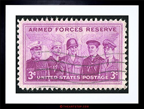 The Art Stop Postage Stamp Armed Forces Vintage USA Photo Framed Print F12X5748