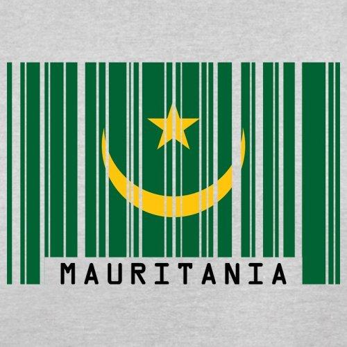 Mauritania / Mauretanien Barcode Flagge - Herren T-Shirt - Hellgrau - XXL