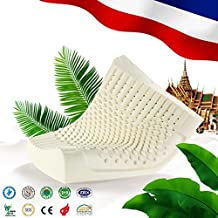 NOYOKE Thailand Imports Natural Latex Orthopedic Bedding Massage Latex Pillow(60Wx40Lx12-10H)