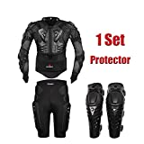 HEROBIKER MC1012 Black Motorcycle Body Armor Motocross Armour Motorcycle Jackets+ Gears Short Pants+protective Motocycle Knee Pad
