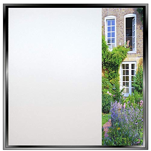 - Bathroom Window Film Self Adhesive Privacy Vinyl Sheets Frosted Window Sticker for Door/Bathroom/Office Privacy Protection or Decoration-Heat Control, Anti-UV, Easy Installation 35.4