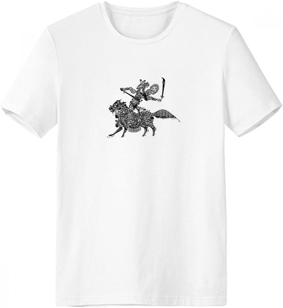 DIYthinker Sombra tradicionales jugar ópera china Mujer con cuello redondo de la camiseta blanca de manga corta Comfort Deportes camisetas de regalos - Multi - XXL: Amazon.es: Ropa y accesorios
