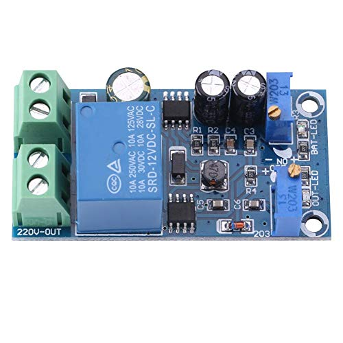 Hilitand 12-48V Charging Controller Module 10A Battery Charging Control Board Charger Power Supply Switch Module(12V)