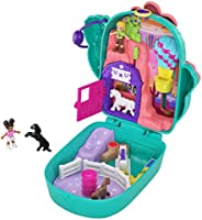 Polly Pocket Pocket World Cactus Cowgirl Ranch Compact with Fun Reveals, Micro Polly and Shani Dolls, 2 Horse