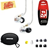 Shure SE315 Sound Isolating Earphones - Clear Bundle with Triple Flange Sleeves, Sleeve Fit Kit, Carrying Case, and Austin Bazaar Polishing Cloth