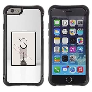 Be-Star único patrón Impacto Shock - Absorción y Anti-Arañazos Funda Carcasa Case Bumper Para Apple iPhone 6 Plus(5.5 inches)( Poster Minimalist Meaning Grey )