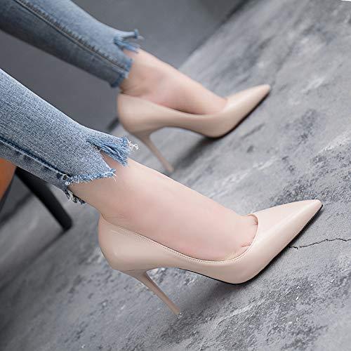 Jqdyl Nuevos Zapatos de tacón Alto Acentuados Stiletto Shallow Mouth Fashion Small Fresh High Heels Shoes