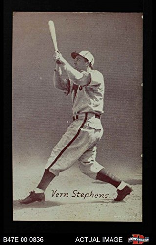 1947 Exhibits STB Vern Stepehens St. Louis Browns (Baseball Card) (Team is Browns) Dean's Cards 5 - EX Browns (Baseball Stb)