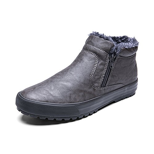 Men's Shoes Feifei Thickening Keep Warm Non-Slip Casual Shoes 3 Colors (Color : Gray, Size : EU/41/UK7.5-8/CN42)