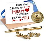 TiedRibbons Valentine Day Special Gifts for Husband Combo(Golden Medal ,Golden cufflinks,Tie-pin,Studded pen and Greeting card)