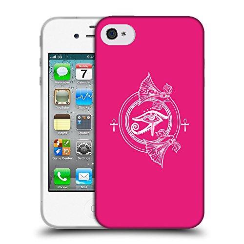 GoGoMobile Coque de Protection TPU Silicone Case pour // Q09860616 Religion 26 Rose pétant // Apple iPhone 4 4S 4G