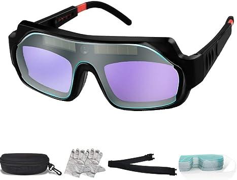 Solar Lens cover Hood Welding Helmet Glass Auto Dimming Darkening Welder Goggles