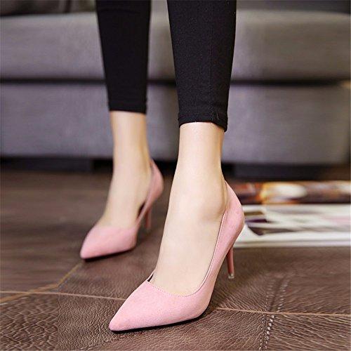 satin chaussures les talons Chaussures bonbon hxvu56546 de femme de printemps SOLO rose et Chaussures l'automne hauts nbsp;pendant la 1FcU8pf