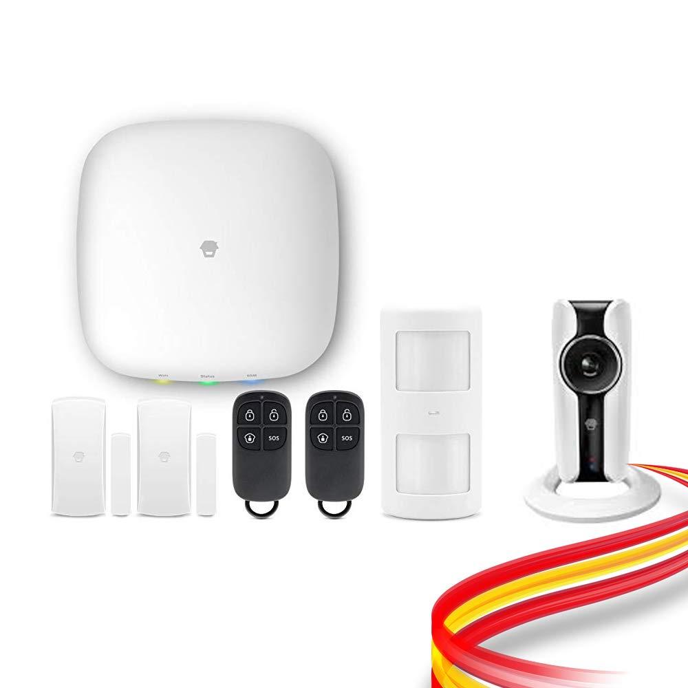 Kit de Alarma Chuango H4 Plus WiFi + GSM con Cámara HD WiFi. Detección inhibidores y notificación fallo alimentación. Sistema sin Cuotas