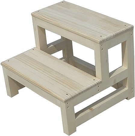 Silla Taburete Escalera de madera maciza Escalera de 2 pasos Escalera de actividades Multifunción Muebles de sala Taburete bajo Banco de madera Banco de zapatos (Tamaño : 50 x 44 x 40 cm) : Amazon.es: Hogar