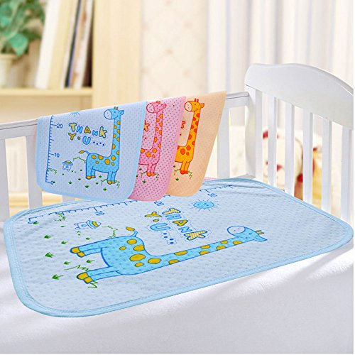 RuiHome 3 Pack Baby Changing Mat Bed Mattress Pad Cover for Home Travel Use, Height Measurement Giraffe Pattern - 14x18