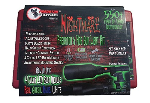 Predator Tactics Nightmare Predator & Hog Gun Light Kit Red, Green, Blue, White 4 LED Bulb Module -