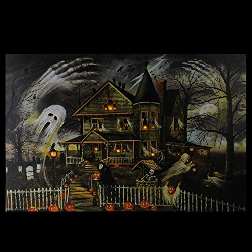 Northlight Large Creepy Haunted House Canvas Wall Art, Orange by Northlight (Image #3)
